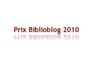Prix Biblioblog
