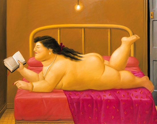 femme lisant botero