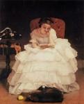 Jeune femme lisant alfred stevens